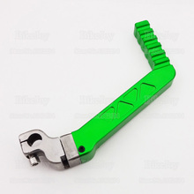 13mm CNC Kick Start Starter Lever Green for 50cc 110cc 125cc CRF KLX TTR YX Lifan Engine Pit Dirt Bike Motorcycle Motocross(China)