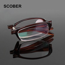 Fancy Brand Design Fashion Portable Resin Lens Folding Reading Glasses Women Men Upscale Foldable Presbyopic Eyeglasses G415