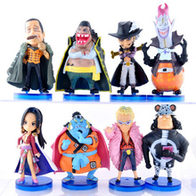 8 pcs/set Anime One piece Toys Dracule Mihawk Doflamingo Hancock PVC Figure
