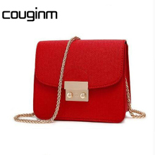 COUGINM New Fashion Handbags For PU Leather Bags Women As Perfect Quality Chain Shoulderbag On Your Any Occasion Have Many Color(China)