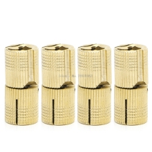 4 Pcs 14mm Brass Barrel Cabinet Cylindrical Hidden Concealed Invisible Hinge  -B119