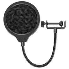 Neewer 4-inch Microphone Wind Pop Filter Mask pop Shield with Mount Clip for Blue Yeti Microphone Other Desktop USB Microphone