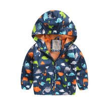 Kids Baby Boy Spring Autum Jackets Long Sleeve Softshell Jacket Kids Active Hooded Coat 2-6 Years