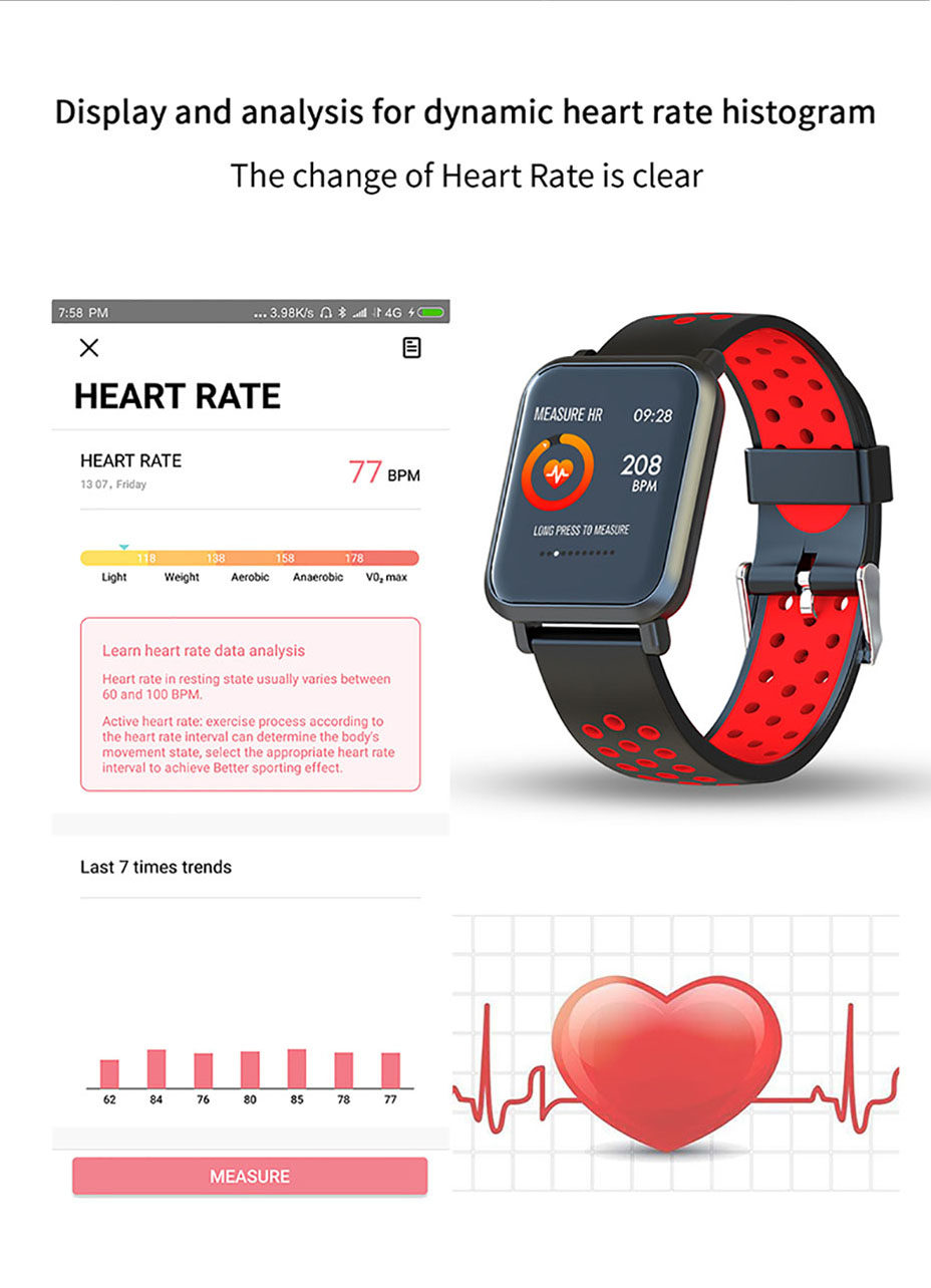 COLMI Smart Watch Men Tempered glass Fitness Tracker Blood pressure IP68 Waterproof Activity Tracker Women Smartwatch 11