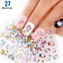 3D Nail Art Stickers Beauty 24 Design Hello Kitty Bow For Nail Foil Manicure Decals Foil Decorations Tools JH156 High Quality(China)