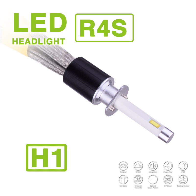 NEW 1 Set R4S H1 90W 10400LM LED Headlight Super Slim Conversion Kit Driving Fog Lamp Bulb 45W 5200LM Replace HID Xenon Halogen<br><br>Aliexpress