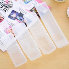 2Pcs Silicone Clear TV Remote Control Cover Protective Storage Bag Organizer Air Condition Control Case Waterproof Dust Daily(China)