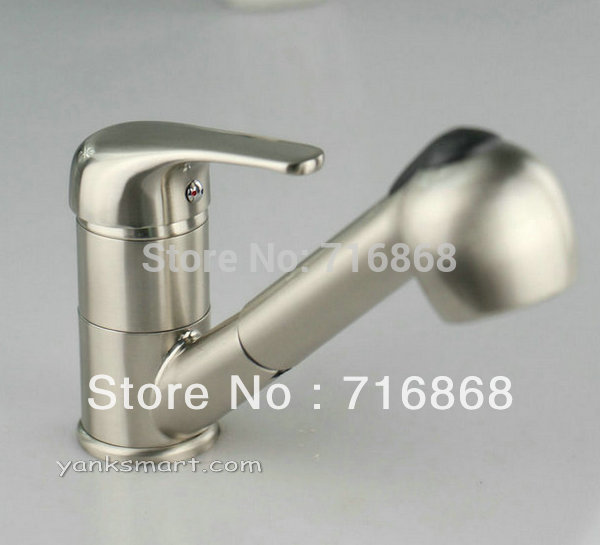 N-045 Modern style faucet deck mounted nickel brushed pull out kitchen &amp; bathroom basin sink Mixer Tap Faucet<br><br>Aliexpress