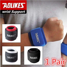 Sport Wrist Protector Professional Wrist Fitness Crossfit Tennis Wristband elasticity Gym Weight Lifting Bar Wrist Support(China)