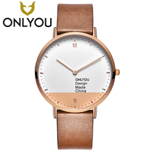 ONLYOU Man Casual Watches Mens fashion Watch 2017 Boy Sport Quartz Clock Male Design Made China Waterproof Wristwatch Wholesale(China)