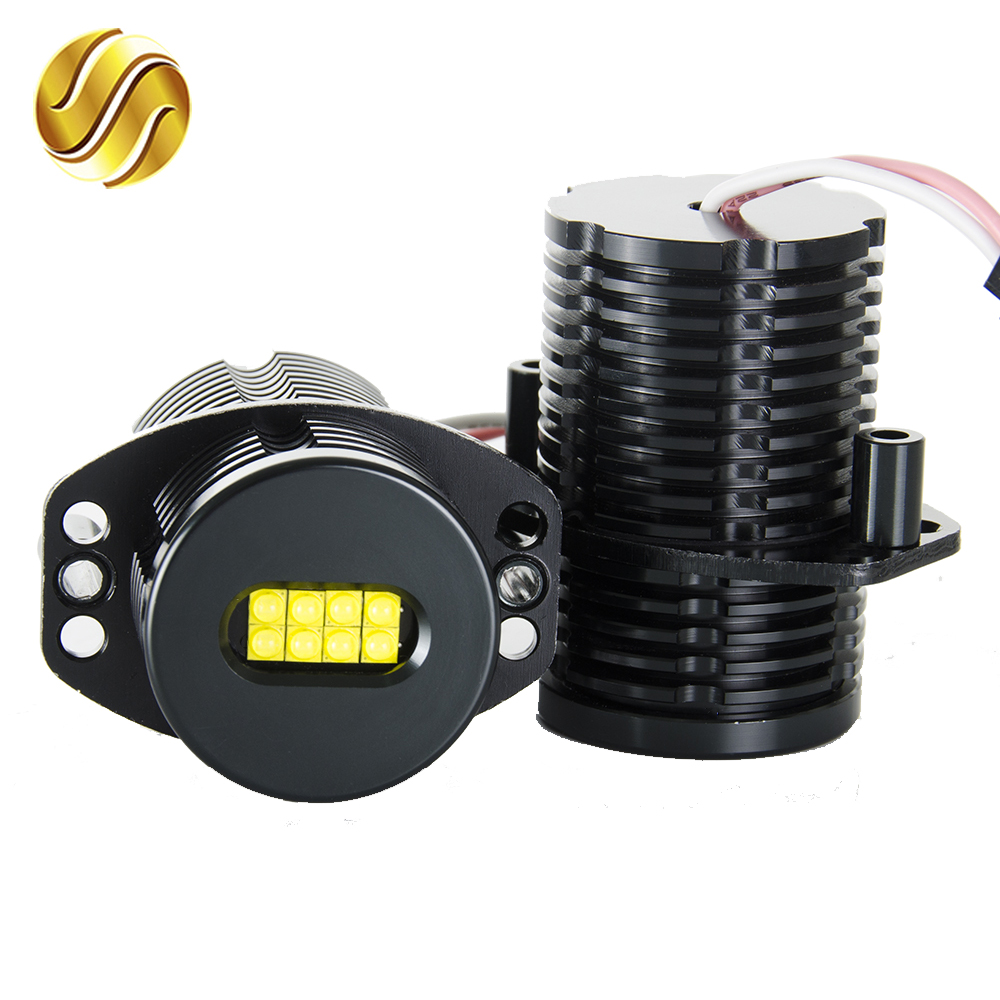 flytop LED Angel Eyes Marker 2*80W 160W for CREE XTE LED Chips XENON White 7000K for BMW E91 E90 2 Pieces(1 Set)<br>