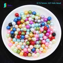 Wholesale Diameter 3/4/6MM Colorful Non-porous ABS Resin Round Loose Bead,Clothes,jewelry DIY Accessory Solid Color Pearl S0461L(China)
