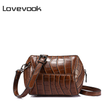 LOVEVOOK brand fashion women crossbody bag female high quality patchwork shoulder messenger bag Red/Green/Brown/Nude Pink 2017(China)