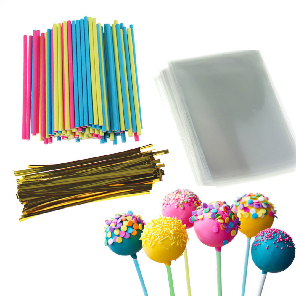 "6/"" Plastic Gold Cake Pop Sticks 6/"" Gold Lollipop Sticks Gold Sucker Sticks"