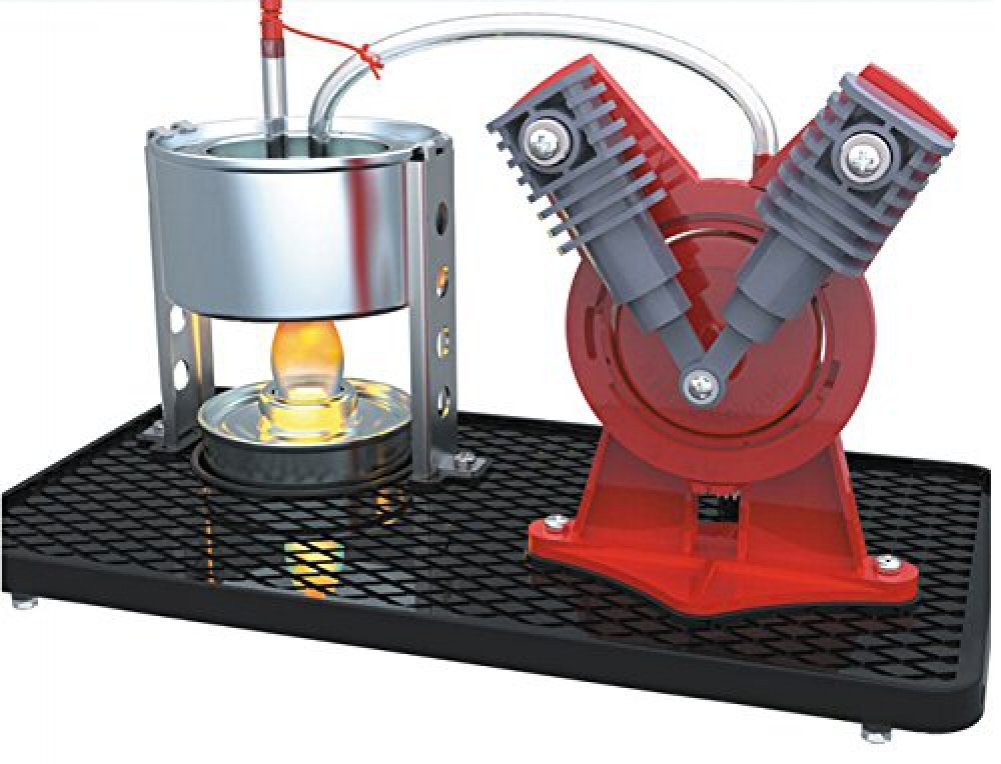 Mini Hot Live Steam Engine Model Education Toy Kits DIY (V-type)<br><br>Aliexpress