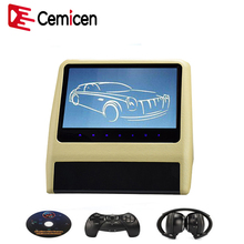 Cemicen 9 Inch Car Headrest Monitor Video DVD Player with USB/SD 800*480 LCD Screen Backseat Displayer IR/FM Transmitter Remote(China)