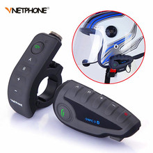 Vnetphone V8 1200M 5 Riders Bluetooth Motorcycle Intercom Helmet Interphones Headset NFC Remote Control Full Duplex Talking +FM