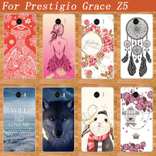 High Quality DIY print Fashion painting design Colored Protector Phone Cover For Prestigio Grace Z5 PSP5530Duo 5530(China)