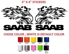 Car Styling For 2Pcs/Set  SAAB BODY CAR STICKER DECAL VINYL GRAPHIC