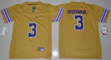 2016 Nike Youth LSU Tigers Odell Beckham Jr. 3 College Ice Hockey Jerseys Limited Jersey - Purple Size S,M,L,XL(China)