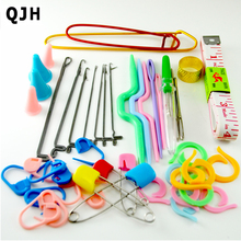 Home DIY Brand Knitting Tools Set Crochet Latch Curve Needle Mark Hand Crochet Knitting Needles Weave Accessories With Case Box