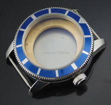 Corgeut 46mm 316L stainless steel watch case with the blue bezel is suitable for ETA2836 DG2813automatic mechanical movement