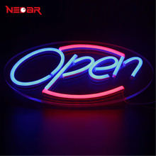 LED Neon Open Sign for Shop Cafe Bar Pub with 12V ultra bright led neon flexible light tube customized DIY led advertising light