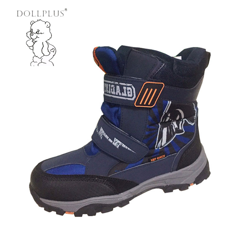 Dollplus Warm Comfortable Children Baby Snow Boots Boy Men Outdoor Anti-Skid Keep Boots Shoses Eur 32-40#(China (Mainland))