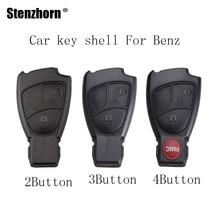 Stenzhorn 2/3/4 Buttons Car Remote Key shell Fob Mercedes Benz B C E S ML SLK CLK Class 1998-2010 Car key shell Replacement
