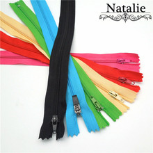 2017 Real 10pcs/lot 20cm-35cm Close-end Zippers For Sewing Manufacturers Direct Sales Nylon Free Shipping Clothing Accessories(China)