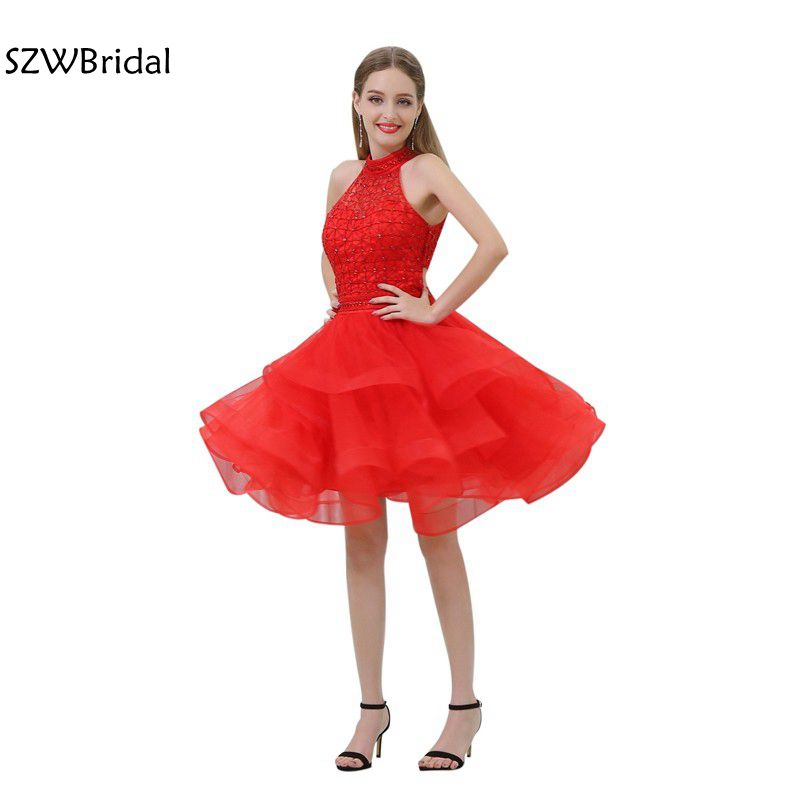 Fashion Red Sexy Cocktail dresses 2019 Off the shoulder jurken ever pretty vestido de festa curto Cocktail dress