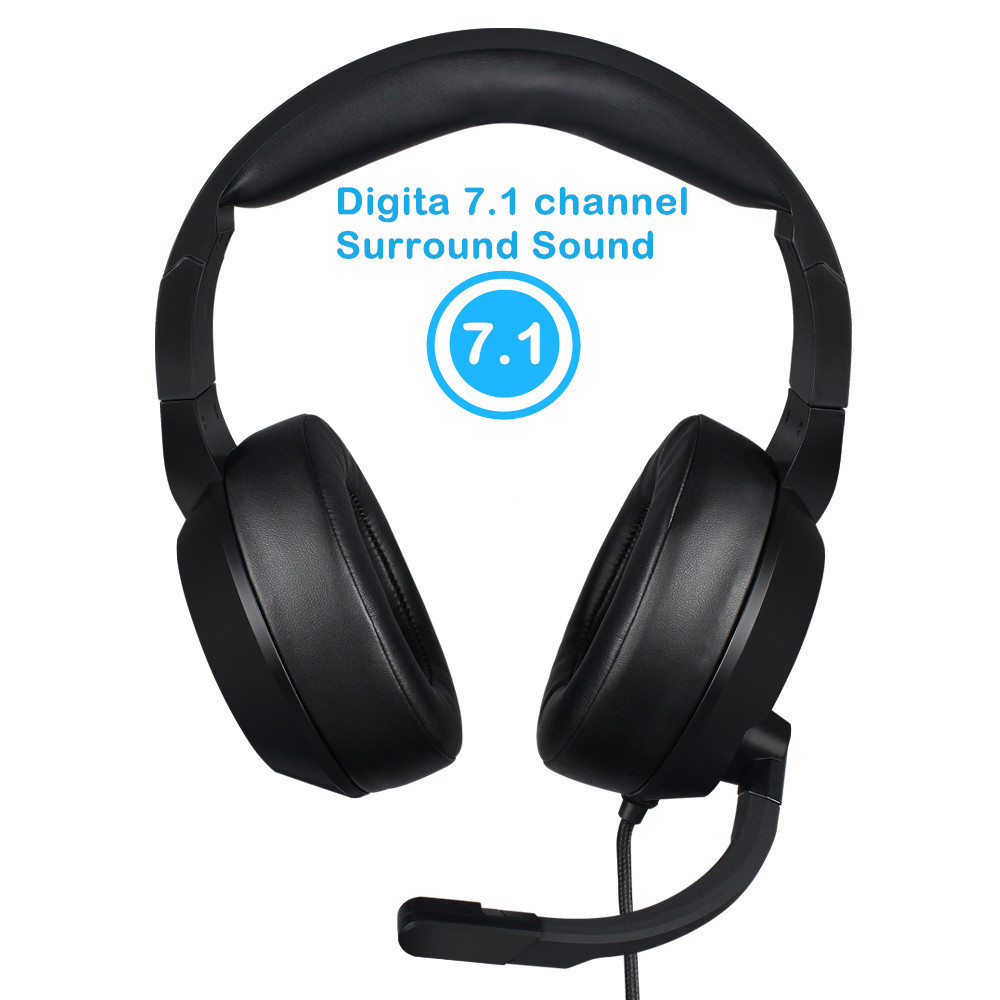 Nubwo N11 PC Gamer Headset USB 7.1 Channel Sound Bass Casque Computer Gaming Headphones with Microphones Led Light (2)