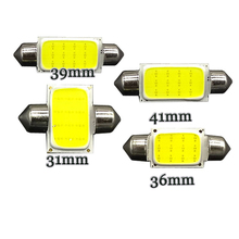 wholesale 100pcs/lot Festoon COB Dome Lights C5W 31mm 36mm 39mm 41mm 12 Chips SMD LED Xenon White DC12V(China)