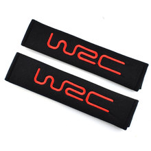 JDM Excellent 2pcs/lot Car Styling Carbon Fiber Car-Styling Seat Belt Shoulders Pad Truck Cover Fit For Mercedes WRC Accessories