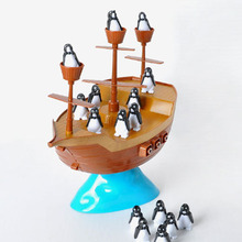2017 Puzzle penguin pirate ship model Family parent child interaction toy Children's desktop Environmental protection plastic(China)