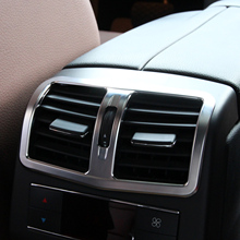beler Car Styling Chrome Armrest Box Rear Air Conditioning Outlet Vent Cover Trim for Mercedes Benz E Class W212 2013 2014 2015