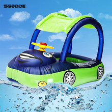 Baby Float Seat Car Sun Shade Baby Inflatable Swimming Ring Children Rubber Circles Floating Swim trainer Pool Float Water Toys(China)