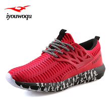 IYOUWOQU 2017 Summer New Arrivals Lace-Up Men's Sports shoes Breathable Air mesh Outdoor Running shoes Beginner Sneakers men
