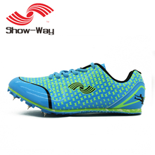HEALTH sprint spikes mens running shoes track professional men sport shoes athletic woman sneakers student nail for men spike