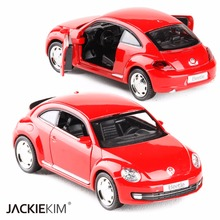 RMZ city 1/36 Scale Germany Volkswagen VW Classic Beetle Bug Diecast Metal Pull Back Car Model Toy For Children Gifts Toy(China)