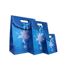 Free Shipping 12 X Exquisite Lily Gift bag Wedding Birthday Party Paper Portable Gift Bag Party Favor Supply(China)