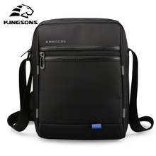 KINGSONS 10 Inch Waterproof External USB Port Charging Messenger Bag for Pad Men and Women Daily Use Shoulder Strap Bag 2017(China)