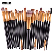 20pcs/Set Pro Eye Shadow Lash Foundation Eyeliner Eyebrow Lip Brushes Kits Makeup Brushes Tools Cosmetics Beauty Make Up Brush