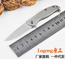 Hot Mini Folding Knife Tactical Knife D2 Blade 58-59 HRC Stone Washing Hunting Camping Survival Knife Outdoor Tools(China)