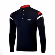 PGM Golf Sweaters Men Golf Apparel Polo T-Shirt Long Sleeved Clothing Table Tennis Shirt High Elasticity Golf Trainning T Shirts(China)