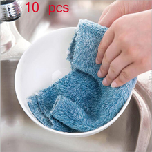 Special offer wholesale 25 cm * 25 cm non-stick oil dish cloth fiber cloth towels ultra soft dish towels  A pack of 10  pieces