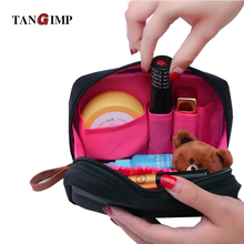 TANGIMP Cosmetic Bags Travel Organizer Waterproof Makeup Cases Pouch Beauty Brushes Lipstick Toiletry Accessories Supplies