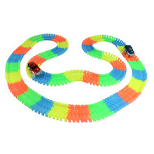 Magic Tracks Bend Flex Glow in the Dark kids toys Magical Race track+car random color track slot toy Car for Child Gift LA883029