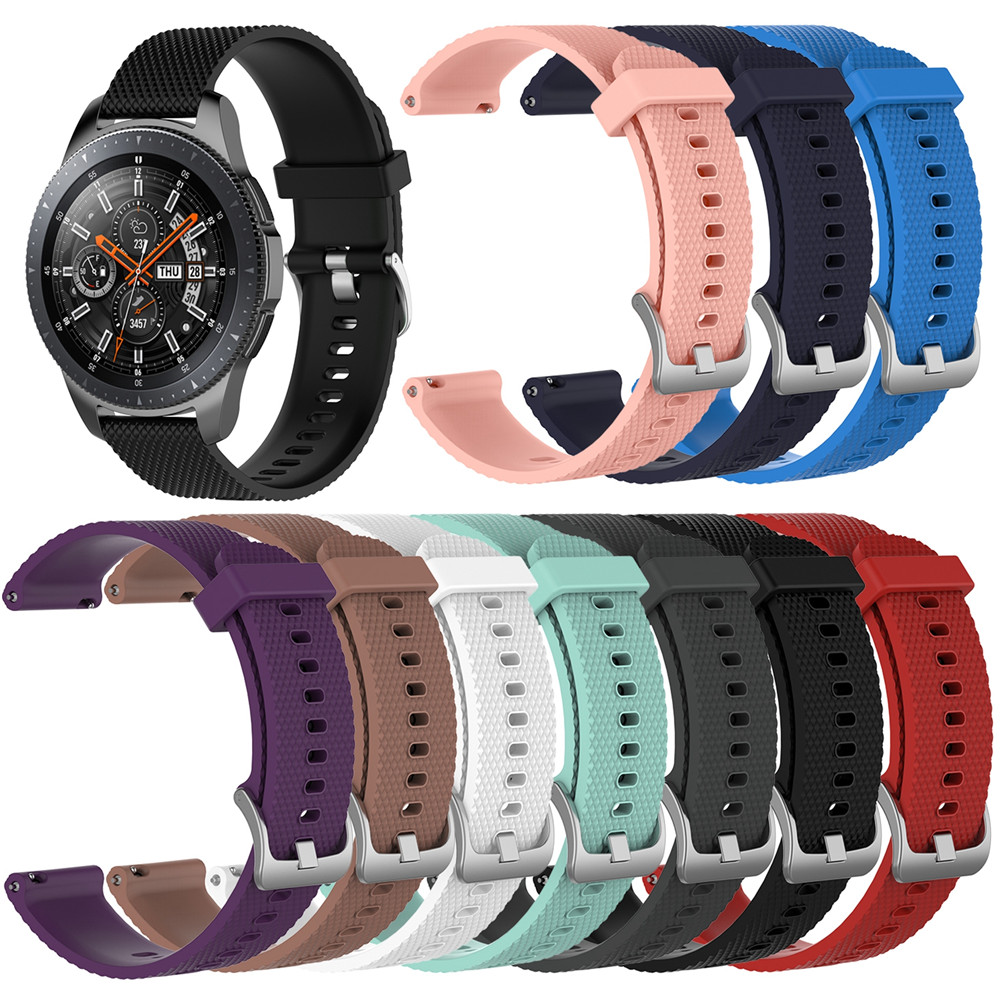 Silicone Watchband Strap for Samsung Galaxy Watch 46mm SM-R800 For Huami amazfit 2 stratos For LG W100 W110 W150 Smart wristband