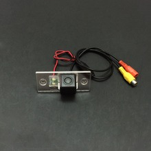 Car Rear View / Back Up / Reverse Camera For Skoda Fabia 1999~2014 / License Plate Light OEM / RCA NTST PAL / Night Vision